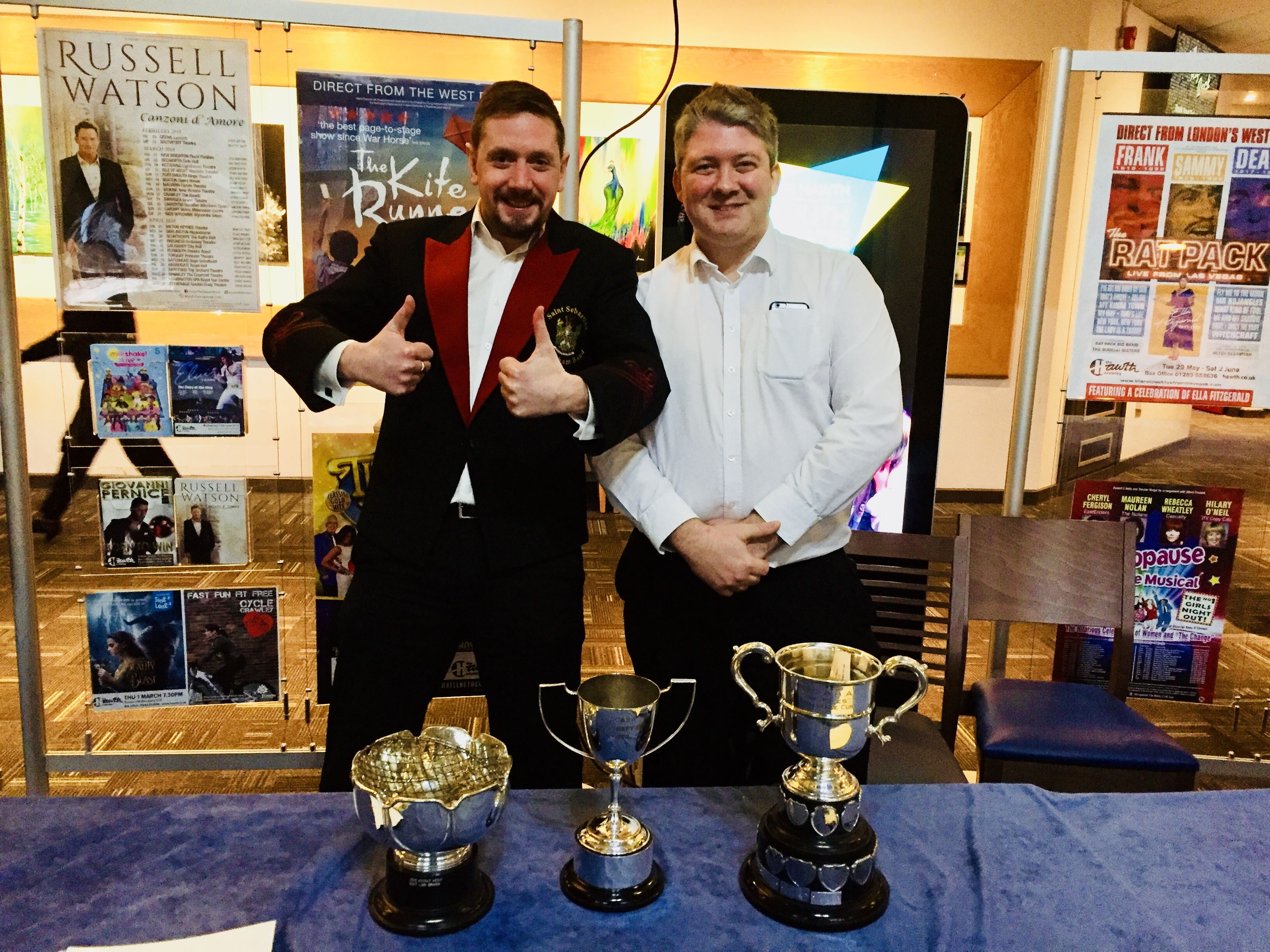 Contest Secretary (Leighton Cornelius) and Chairman (Llewellyn Wells)
